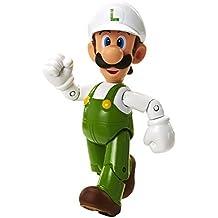 Nintendo - Figura Fire Luigi Con Fire Flower, 10 cm