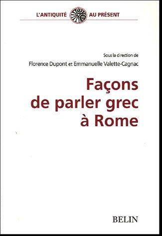 Faons de parler grec  Rome