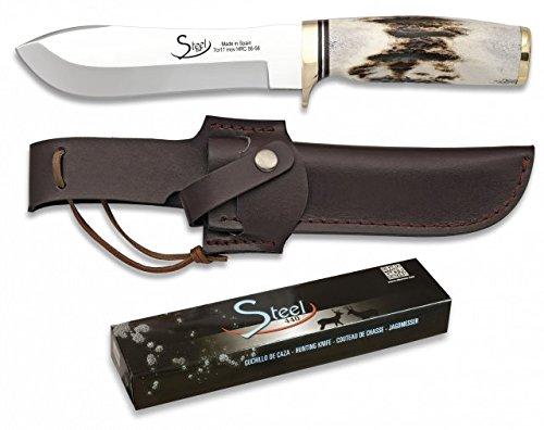Martinez Albainox Steel 440 Jagdmesser mit Horngriff Droppoint-Klinge