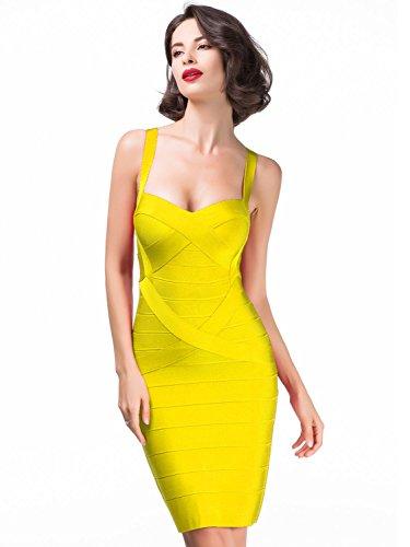 alice-elmer-womens-rayon-bodycon-strap-sleeveless-bandage-vestido-m-yellow