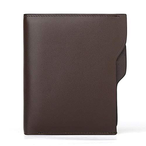 QJXSAN Marken-Brieftasche Männer erste Schicht Leder Brieftasche Multi-Card-Persönlichkeit Ledertasche
