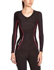 Skins Damen A200 Womens Top Long Sleeve FXS, Black/Pink, XS, B61063005FXS