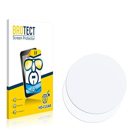 BROTECT Schutzfolie kompatibel mit Runtastic Moment Basic [2er Pack] - klarer Bildschirmschutz