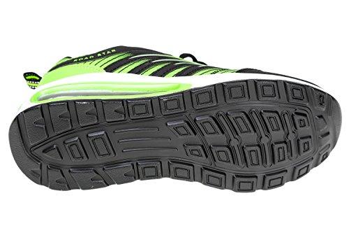 gibra, Scarpe da corsa uomo Nero (Nero/Verde fluo)