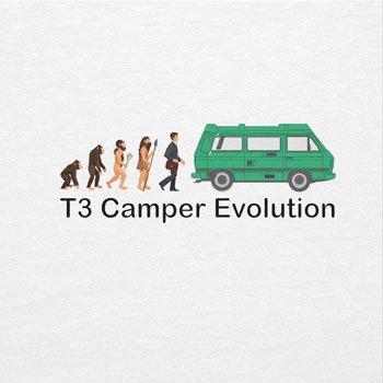 TEXLAB - T3 Camper Evolution Color Edition - Herren T-Shirt Weiß