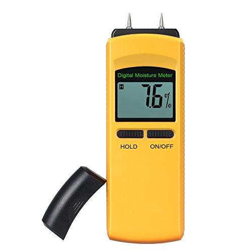 Feuchtigkeit Meter, neoteck 4Pin Digital Feuchtigkeit Meter feuchten Detektor Luftfeuchtigkeit Tester, Messbereich Feuchtigkeitsgehalt für Holz Wand Beton Putz Ziegel Fasern, Glas Wohnwagen Boote und andere Materialien
