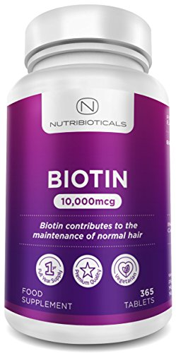Biotin Hair Growth Supplement 365 Tablets (Full...