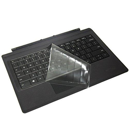 XSKN Ultra dünne klare TPU Tastatur Haut transluzente Tastaturabdeckung für Microsoft Surface Pro 3 (nicht für Surface 3 / Surface Pro 4 / Surface Book), US-Layout