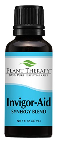 Amber Products Massage (Invigor-Aid Synergy Essential Oil Blend. 30 ml (1 oz). 100% Pure, Undiluted, Therapeutic Grade. (Blend of: Sandalwood, Black Pepper and Lemon) by Plant Therapy Essential Oils)