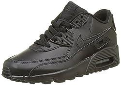 Nike Jungen Air Max 90 Ltr (Gs) Laufschuhe, Schwarz, 37.5 EU