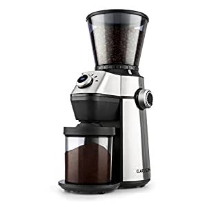 Klarstein Trieste • Coffee Grinder • Conical Grinder • 150W • 300g • 15 Grinding Degrees • 6 Selectable Grinding Amounts • Cleaning Brush • Low Operating Noise: 70 dB • Stainless Steel