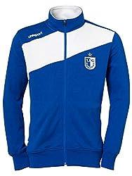1. FC Magdeburg Uhlsport Freizeit Trainingsjacke (L, blau/weiß)