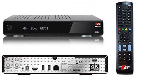 AX 4K-BOX HD51 UHD 2160p E2 Linux 2xDVB-S2 Receiver, ohne HDD