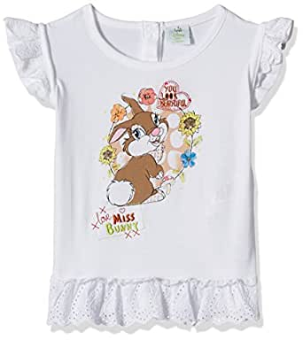 Disney Baby Girls' Blouse Shirt (TC 2852_White_9-12 Months)