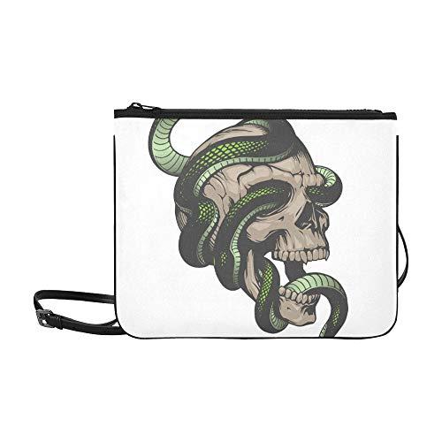 SHAOKAO Ein heftiges kaltblütiges Schlangenmuster Benutzerdefinierte hochwertige Nylon-dünne Clutch-Tasche Umhängetasche mit Umhängetasche
