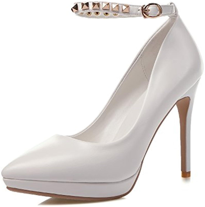 1to9 mesdames t boucle orneHommes t mesdames mule blanc métal chaussures 3 uk b06xs6nvbp polyuréthane o u pom pes 431150