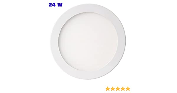 Plafoniera Led Incasso 24w : Pannello faretto led slim w ad incasso tondo diametro cm