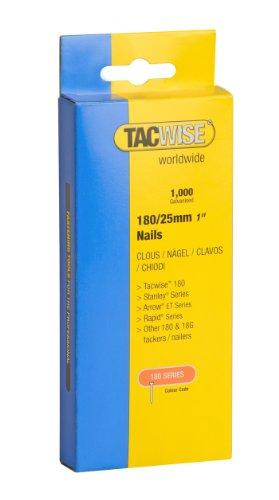 Tacwise Nägel Verzinkt 180/25 mm, 1000 Stück, 0361