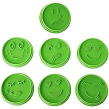 Celan - Molde para galletas de 7 piezas, diseño de emoticonos