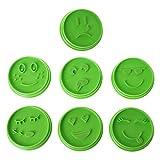 Kimruida 7pcs Emoji Face Cookie Moule Chocolat Biscuit Cutter Outil Fourniture De Pâtisserie Maison