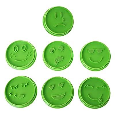 Biniwa 7 Stckset Emoji Gesicht Keksform Dekoration Backform Werkzeug Fr Diy Cupcake Kuchendekoration Zuckerpaste Schokolade Fondant Butter Projekte