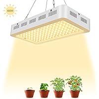 LED Cultivo Interior TOPLANET 600W Lampara para Plantas Led Grow Light Espectro Completo 120*5w Luz para Interior/Invernaderos Jardin Plantas en Macetas(Blanco Cálido)