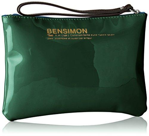 Borsa A Mano Con Cerniera Bensimon Donna, 22x15.5x1 Cm Vert (vert)