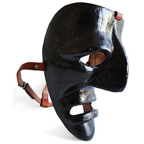Satodà - mamuthones: maschera del carnevale di mamoiada (nuoro). artigianale, legno e cuoio. ...