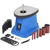 vidaXL Lijadora Husillo Oscilante 450 W Azul Máquina Lijar Huso Tambor Bobina