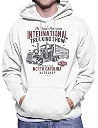 Fun Cool Vintage International Truck Show Mens Hooded Sweatshirt