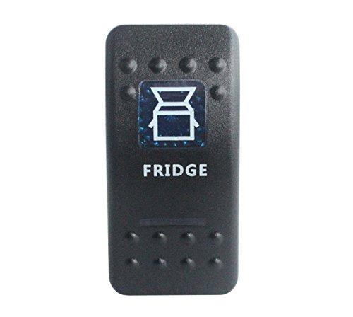 Bandc Fridge-Kippschalter, wasserfest gemäß IP68, Marinequalität, für Auto und Boot, mit blauem LED-Licht, 5-polig, zum ein- und ausschalten -