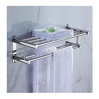 Handtuchhalter/Handtuchhalter, zur Wandmontage, Edelstahl, 50 x 22 x 12 cm, silberfarben