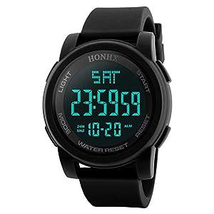 Mode Luxus Herren Uhren LED Wasserdichte Digital Quarz Militär Sport Datum Armbanduhr Uhr Groveerble