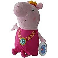 Peppa Pig - Peppa con Corona de Princesa 20cm - Calidad super soft - Peluche -