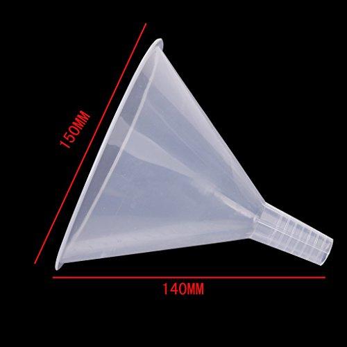 150mm Kunststoff Transparent Trichter fur Kuche / Labor / Garage / Auto Flussigkeiten - 4