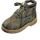 BBestseller Zapatos Botines para niños más algodón Bota de Nieve Caliente Casual Antideslizante Camuflaje Sport Botas Zapatillas de Deporte