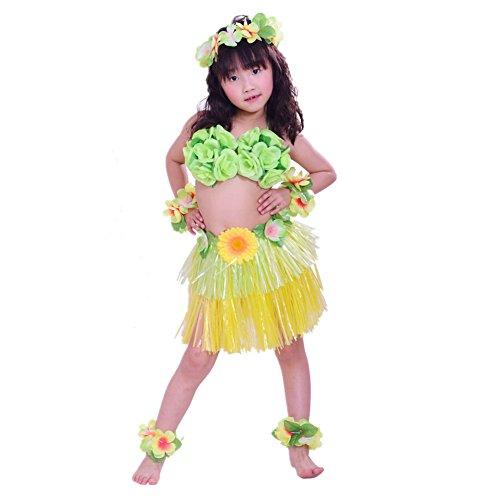 9eeca3672 xiemushop 8pcs Hawaiano Hula Vestido Falda de Hierba 40cm para Ninos  Guirnaldas.