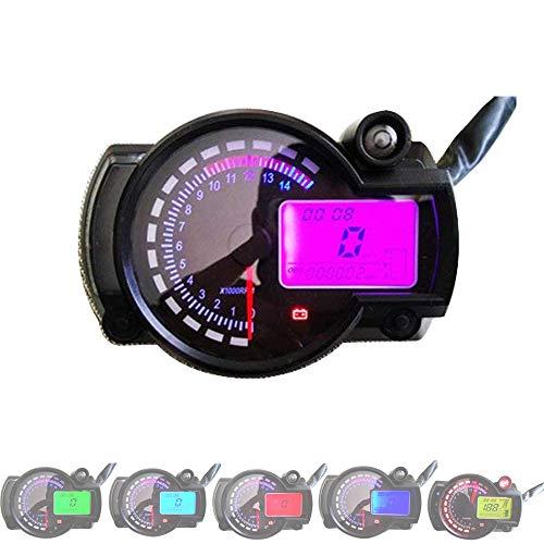 HJJH 7 Farbe Digital 14000 RPM ATV Quad Raserei Motorrad Tacho, 12 V Motorrad LCD Digitales Instrument, Montage Modifizierte Öl-Messgerät-Multifunktions