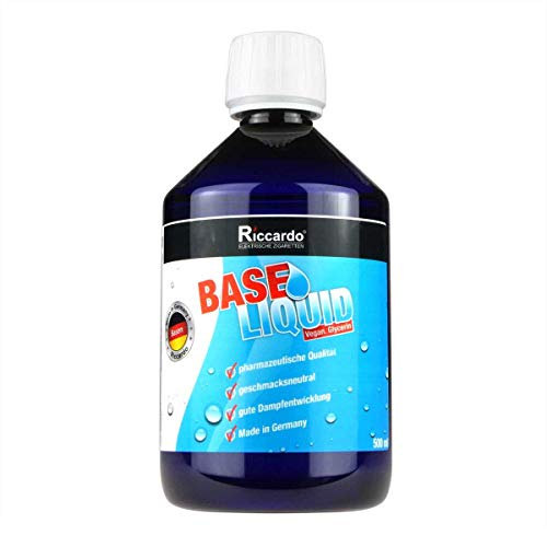Riccardo Glycerin (VG) E422, 99,5% Ph. Eur, 0,0 mg Nikotin, zum Mischen von Basisliquid, 500 ml