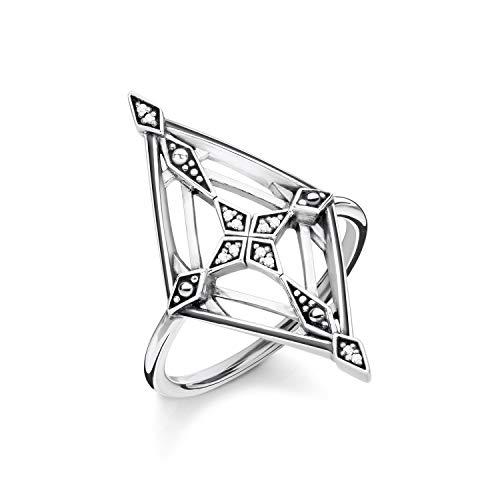 THOMAS SABO Damen Ring Vintage Kreuz 925er Sterlingsilber, Geschwärzt D_TR0040-356-14