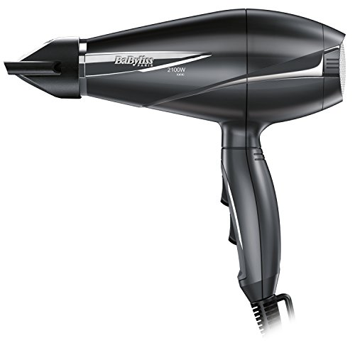BaByliss Le Pro Light 6609E - Secador de pelo iónico más ligero, con motor AC, 2100 W, 6 velocidades/temperaturas, posición de aire frío, color negro