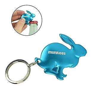 Munkees Keychain Rabbit Figure Animal Bottle Opener, Surprise Color, 3514