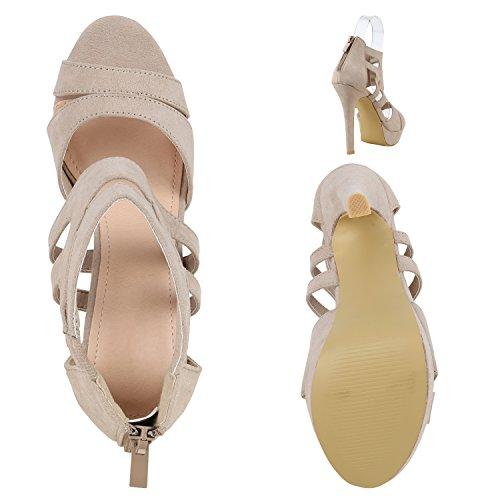 buy online 144c0 00225 Schicke Damen Sandaletten Sandalen mit Keilabsatz ...