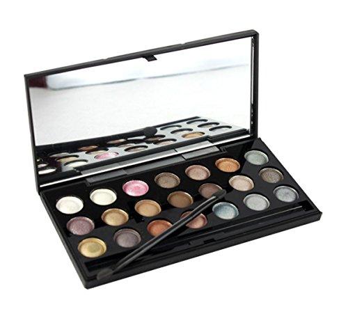 Palette de Fard à paupières, FantasyDay 21 Couleurs Professionnelle Shimmer Matte Ultra Pigmenté Bases de Ombre à paupières Maquillage Palette Cosmétique Set - Eyeshadow Makeup Beauty Kit