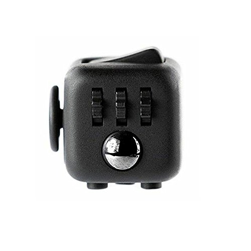 Preisvergleich Produktbild Fidget Cube Toy Anxiety Attention Stress Relief Stocking Stuffer For Childern And Adults Christmas Gift (Black)