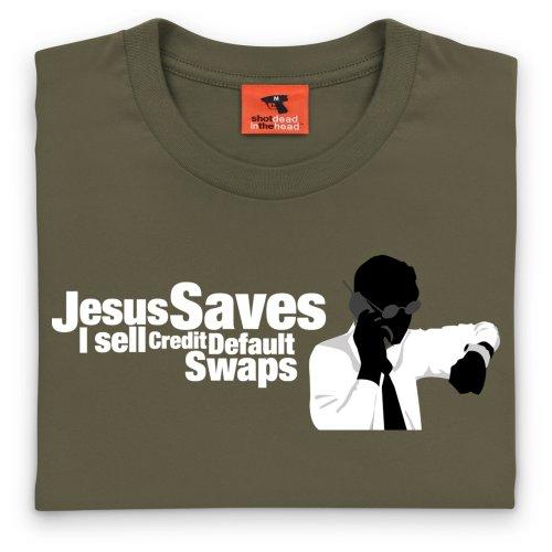 Square Mile Credit Default Swaps T-Shirt, Herren Olivgrn
