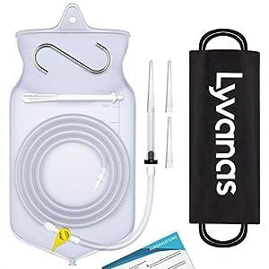 Lyvanas Einlauf Set Zur Darmreinigung (BPA- Und Phthalatfrei) – 2 Liter Klistier Set In Vollausstattung Für Alle Einläufe – Premium Reise Irrigator Set