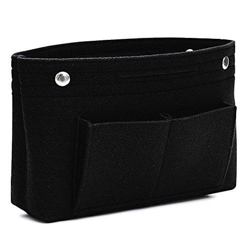 VANCORE Taschenorganizer Handtaschen Organizer Innentaschen für Handtaschen, 8 Fächer (Schwarz, Klein)