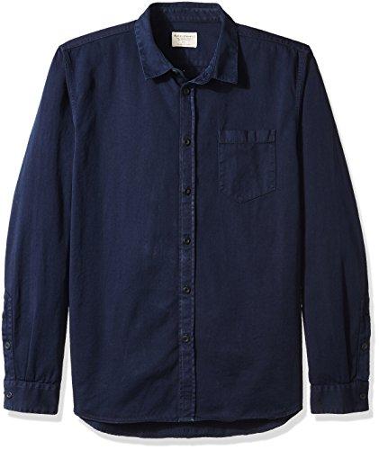Nudie Jeans Unisex-Erwachsene Henry Pigment Dyed Hemd, Midnight, X-Large -