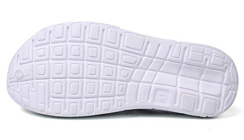 Eagsouni Unisex Sandali Zoccoli Scarpe da Spiaggia da Mare Casual Respiranti Clogs Sabot Pantofole Estate Uomo Donna Nero bianco